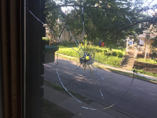 A bullet entered the Winooski apartment of reporter