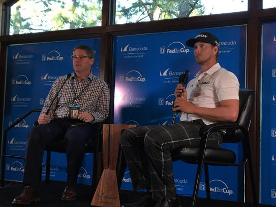 Chris Stroud, right, won the 2017 Barracuda Championship
