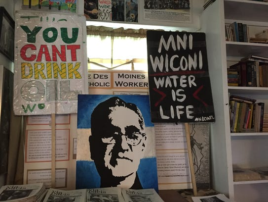 A look  inside the Berrigan Catholic Worker House in