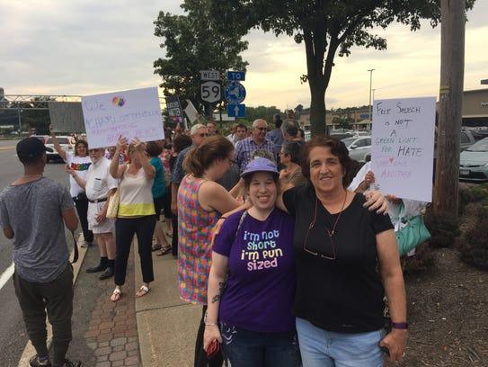 From right, Lori Safferman attended the vigil in Nanuet