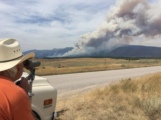 The Arrastra Creek fire off of Highway 200 outside