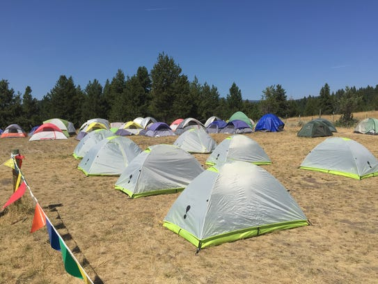 About 200 personnel are staying in a fire camp for