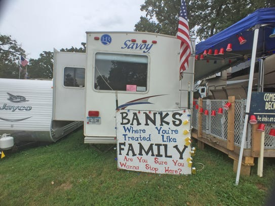 An Iowa State Fair campgrounds sign courtesy of the