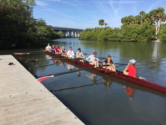 Participants in Row Beyond Diagnosis prepare to launch
