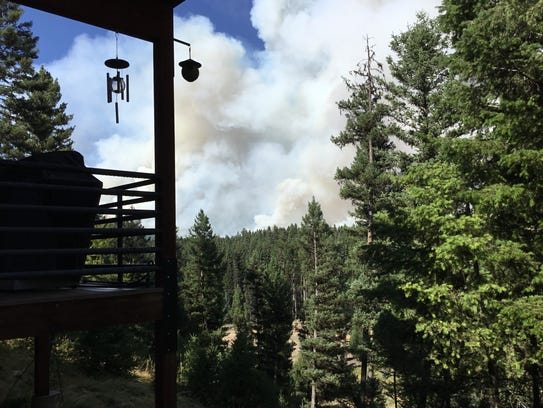 Kim Friede took this photograph of a wildfire from