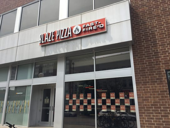 Blaze Pizza opened inside the Old Capitol Mall, 201