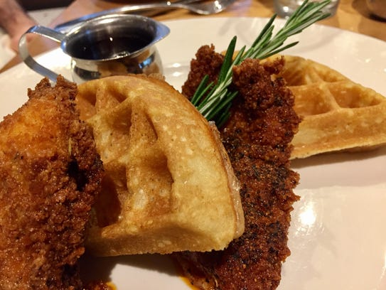 Hot chicken and waffles at The Southern in SoBro