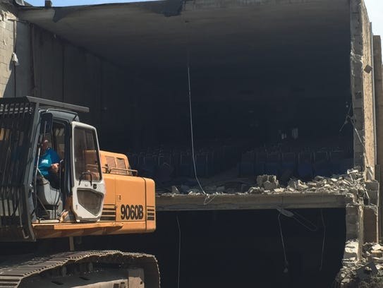 The West End theater being demolished in Long Branch