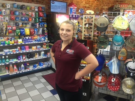 "Katie Marchese works at the Mobil on Gratiot: ""The"