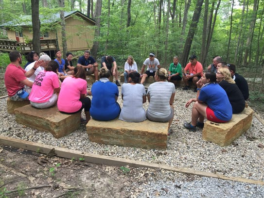 Debriefing sessions at Camp Joy help to facilitate