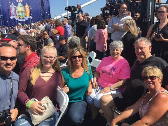 Rose Manion and her family at the ceremony for the