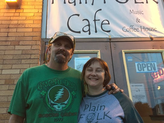 John and vicky Baker, owners of Plain Folk Cafe in