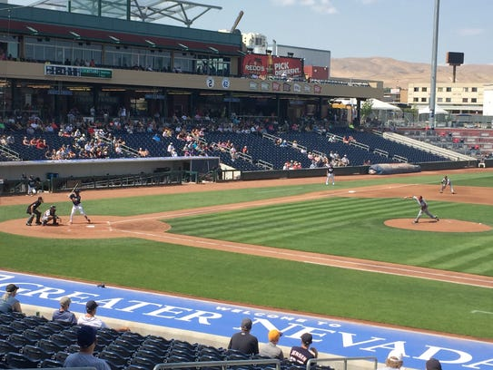 The Reno Aces beat Albuquerque, 13-1 Monday at GNF.