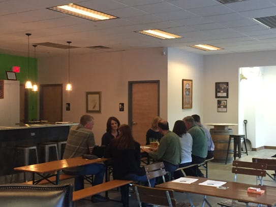 A group of friends gathered Saturday to sample beers
