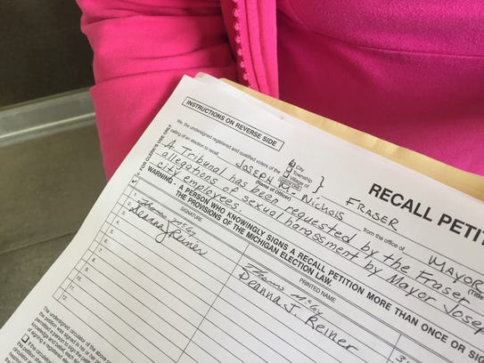 Signatures being collected on one of four recall petitions