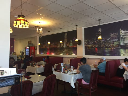 The dining room at vPho: A Taste of Vietnam has 80