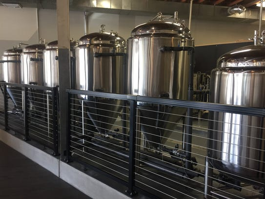 The brew works is a five-barrel system that produces