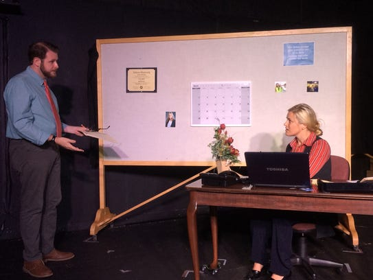 Colin Nesmith as Howard and Katie Glover as Theresa