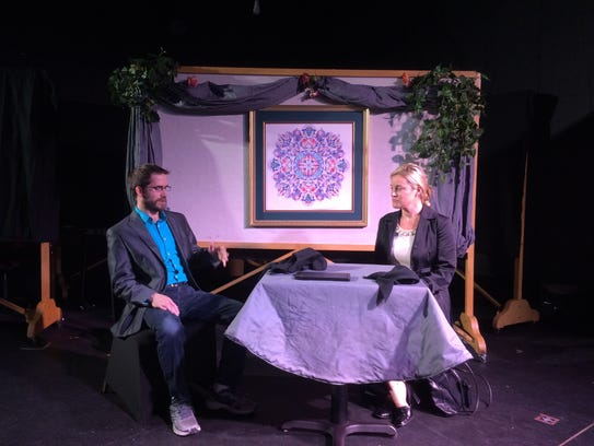 Brandon Eck, as Tony, and Katie Glover, as Theresa,