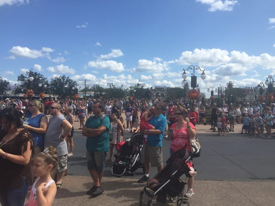 Crowds packed the Disney theme park in Orlando on Sept.