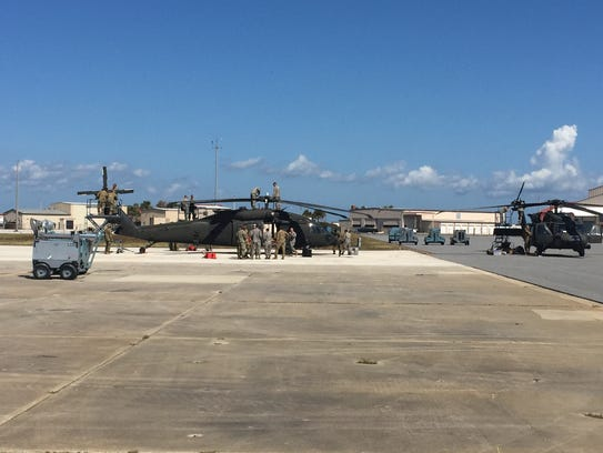 At Patrick Air Force Base on Wednesday, crews prepared