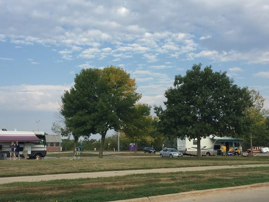 The Hawkeye Commuter lot is a large lot for tailgating