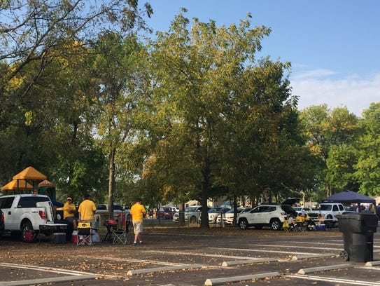 Lot 48, or the Myrtle Avenue lot, has tailgating spots