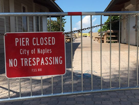 The Naples Pier has been closed to the public since