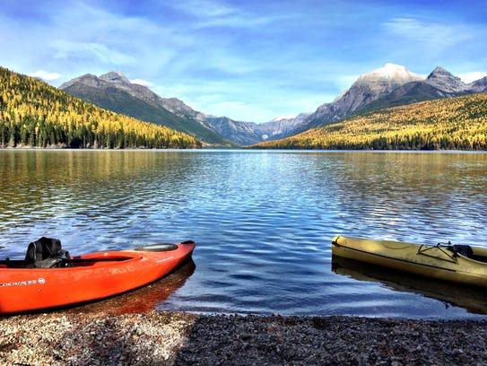 Bowman Lake in Glacier National Park