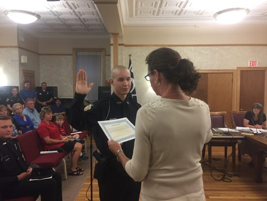 Joshua Pate joins the Granville Police Department as
