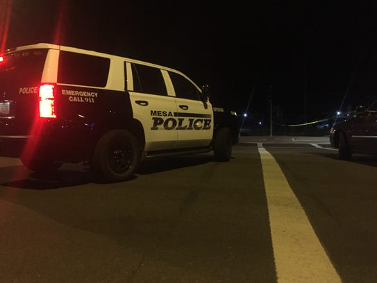 Mesa officers were at the scene of a police shooting
