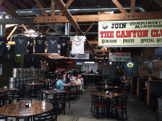 The open, airy Thunder Canyon Brewery in Tucson.