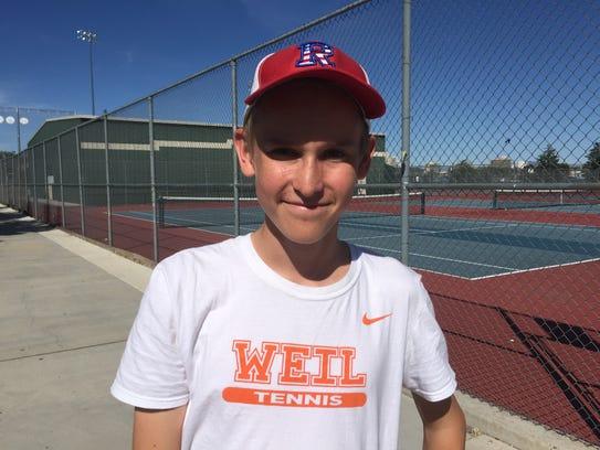 Miki Tiilikainen is undefeated in high school tennis