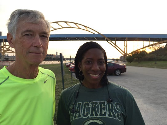 Bill Lamers and Ronetta Watson, two first-time marathon