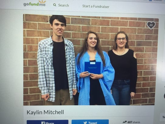Kaylin Mitchell, center, was one of two killed in a