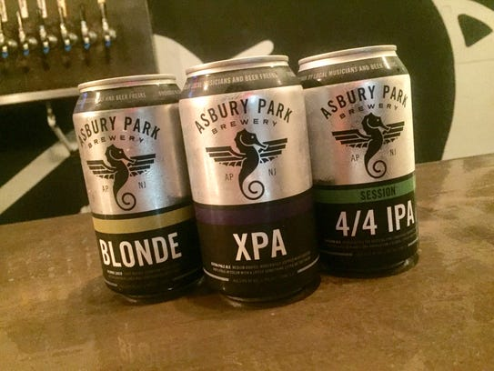 The three beers from Asbury Park Brewery will be available