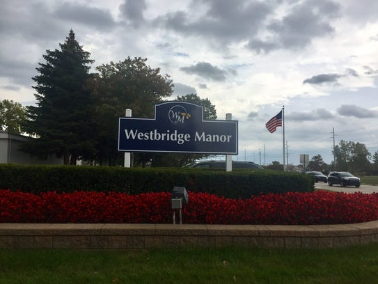 The sign for Westbridge Manor mobile home community