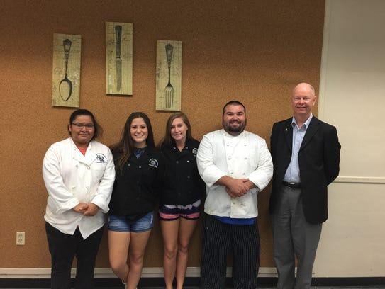 Culinary Arts Academy students Daniela Solis, Allison