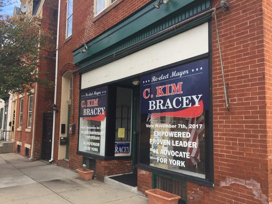 York Mayor Kim Bracey's campaign office on South Beaver