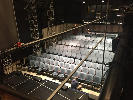The blue seats from the Livingston Avenue theater were