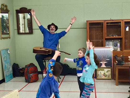 Kids rocker Big Jeff will perform at 10 a.m. and noon