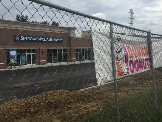 A new shopping center on Route 541 in Burlington Township