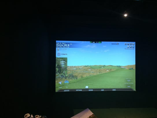 Range Grill + Golf offers two levels of indoor simulators