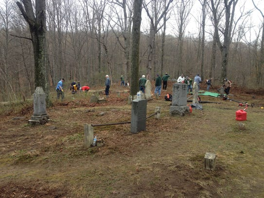 The Friendly Sons of Saint Patrick of Morris County worked together with other community organizations at St. Patrick's Cemetery in October.