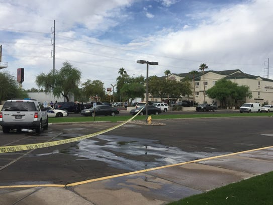 Phoenix police were in a standoff Oct. 31, 2017, with