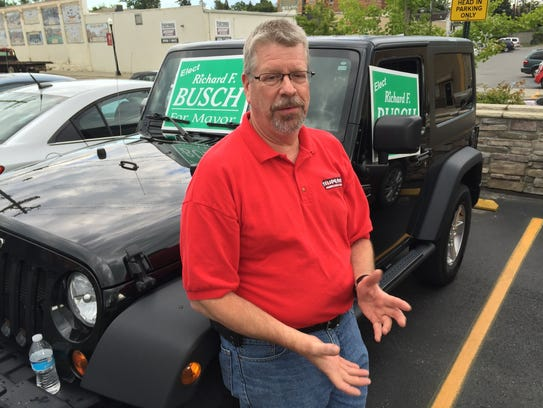 Richard Busch during the August 2015 Yale city election.