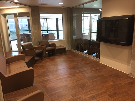 A common area in the new psychiatric unit at Broadlawns