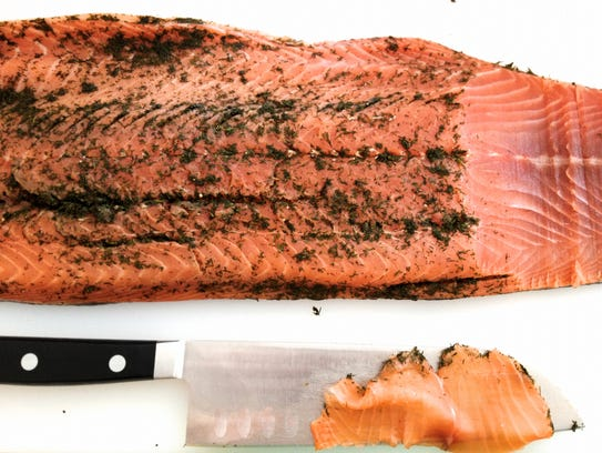 Gravlax is an unusual but delicious addition to the