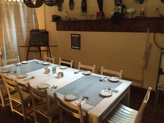 Homey farmhouse style at FARMbloomington restaurant,