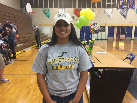 Reed's Carla Hernandez signed her Letter-of-Intent
